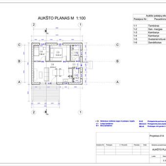 Architektas, projektavimas / RN projektai / Darbų pavyzdys ID 533063