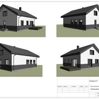 Architektas, projektavimas / RN projektai / Darbų pavyzdys ID 533085