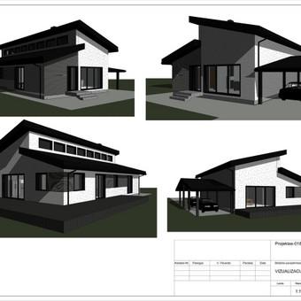 Architektas, projektavimas / RN projektai / Darbų pavyzdys ID 533287