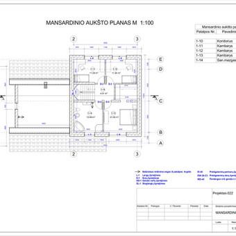 Architektas, projektavimas / RN projektai / Darbų pavyzdys ID 533309