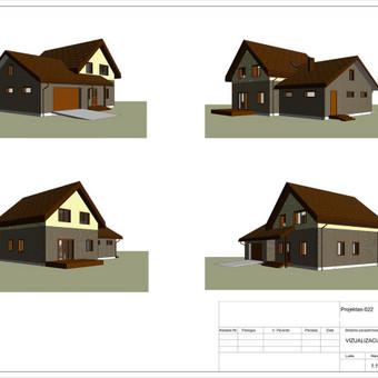 Architektas, projektavimas / RN projektai / Darbų pavyzdys ID 533313