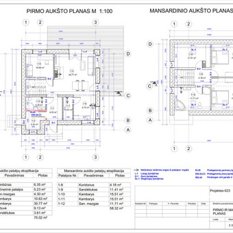 Architektas, projektavimas / RN projektai / Darbų pavyzdys ID 533371