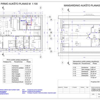 Architektas, projektavimas / RN projektai / Darbų pavyzdys ID 533389