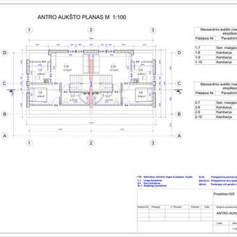 Architektas, projektavimas / RN projektai / Darbų pavyzdys ID 533403
