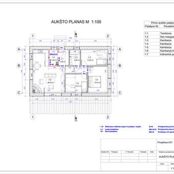 Architektas, projektavimas / RN projektai / Darbų pavyzdys ID 533435