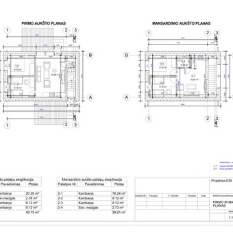 Architektas, projektavimas / RN projektai / Darbų pavyzdys ID 533941
