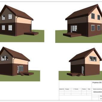 Architektas, projektavimas / RN projektai / Darbų pavyzdys ID 533945