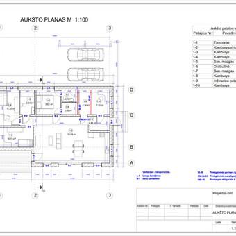 Architektas, projektavimas / RN projektai / Darbų pavyzdys ID 533953