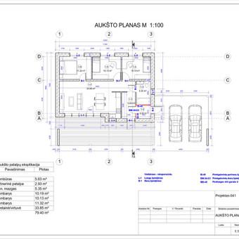 Architektas, projektavimas / RN projektai / Darbų pavyzdys ID 533959