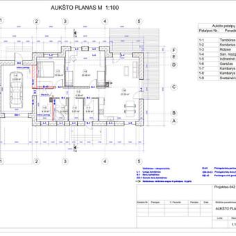 Architektas, projektavimas / RN projektai / Darbų pavyzdys ID 533965
