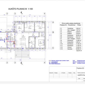 Architektas, projektavimas / RN projektai / Darbų pavyzdys ID 533971