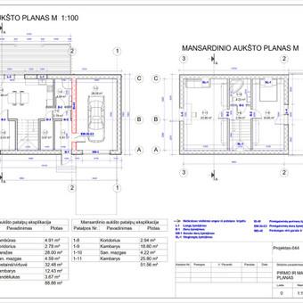 Architektas, projektavimas / RN projektai / Darbų pavyzdys ID 533977