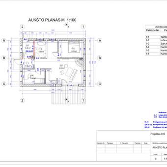 Architektas, projektavimas / RN projektai / Darbų pavyzdys ID 533983