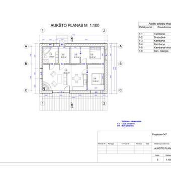 Architektas, projektavimas / RN projektai / Darbų pavyzdys ID 533995