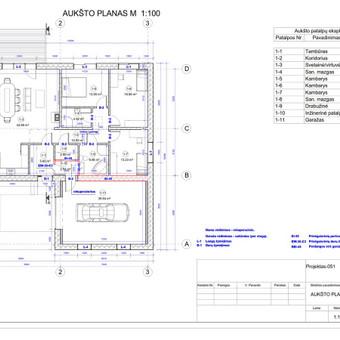 Architektas, projektavimas / RN projektai / Darbų pavyzdys ID 534019