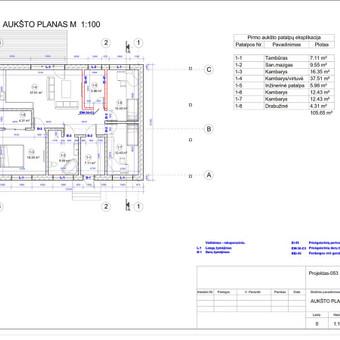 Architektas, projektavimas / RN projektai / Darbų pavyzdys ID 534031