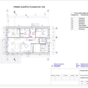 Architektas, projektavimas / RN projektai / Darbų pavyzdys ID 534049