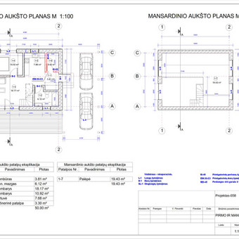 Architektas, projektavimas / RN projektai / Darbų pavyzdys ID 534061