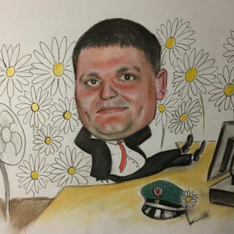 Portretai Paveikslai Šaržai Tatuiruotės / Rytis Songaila / Darbų pavyzdys ID 75200