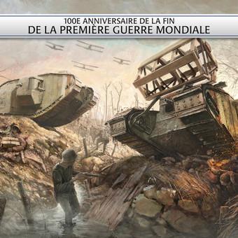 Pirmasis pasaulinis karas. Šimto dienų puolimas. Iliustracija.