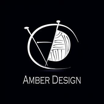 Monochromatinis logo rankų darbo mezgimo gaminių įmonei.