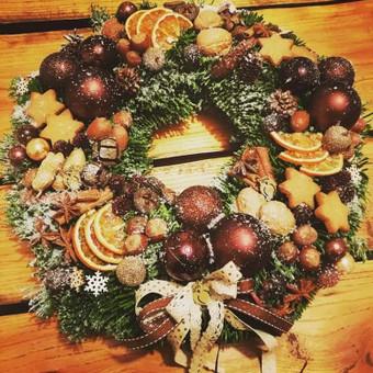 Kalėdinės dekoracijos namams, ofisams / Gėliu mergaitė / Darbų pavyzdys ID 537909