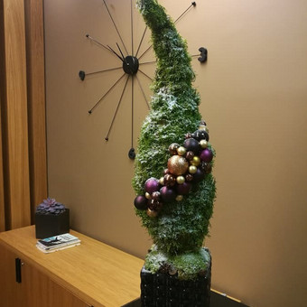 Kalėdinės dekoracijos namams, ofisams / Gėliu mergaitė / Darbų pavyzdys ID 537915