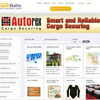 """Prekių ir paslaugų portalas """"Exportbaltic.com"""""""