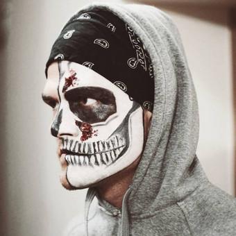 Skull Makeup - grimas- spec efektai - kraujas, spygliai, žaizda.