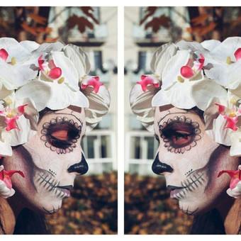 Sugar skull grimas -