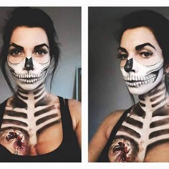Skull Makeup - sekelto grimas