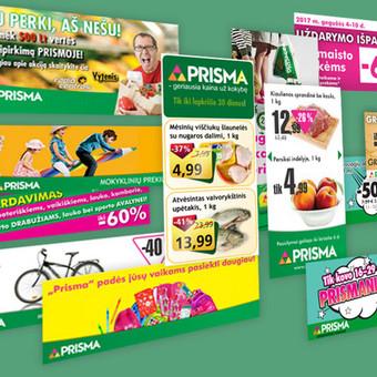 Prisma reklaminiai baneriai