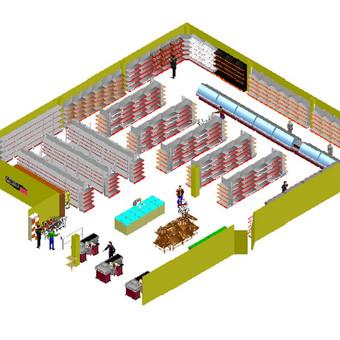 """3D parduotuvių vizualizacija / UAB """"Feratex"""" / Darbų pavyzdys ID 543691"""