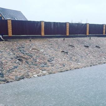 Atraminės sienelės .šlaitu .pakrančių,griovių tvirtinimas. / GeoMax / Darbų pavyzdys ID 545623