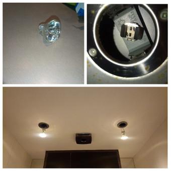 Lempučių keitimas tiek iš šviestuvų, tiek iš gartraukių... ir  kitų prietaisų.