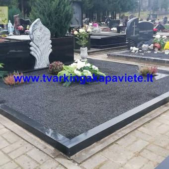 Paminklai, antkapiai, granito plokštės, kapų tvarkymas / TVARKINGA KAPAVIETĖ / Darbų pavyzdys ID 550207