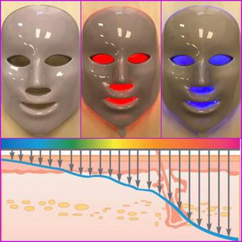 LED terapija procedūrų poveikiui sustiprinti.