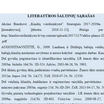 Literatūros sąrašo pateikimas pagal reikalavimus