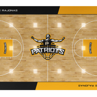 PATRIOTS  krepšinio komandos įvaizdžio atributikos dizainas | www.glogo.eu - logo creation.