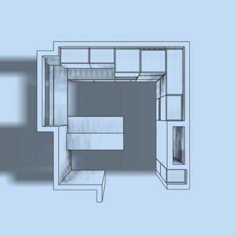 Virtuvės erdvė ir išdėstymas