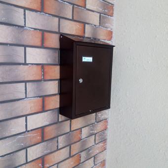Pašto dėžutės sumontavimas