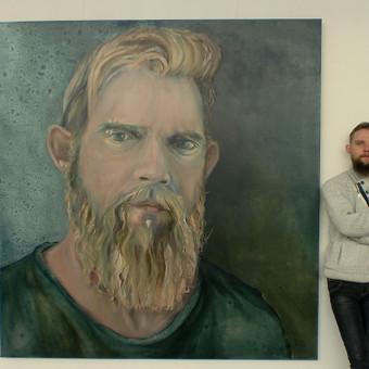 Autoportretas. Drobė, aliejus. 200x190cm. 2018m.