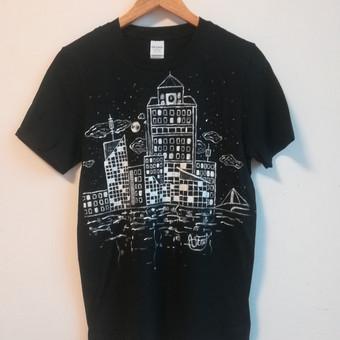 Berniuko (13m.) piešinys ant marškinėlių. 2018m.
