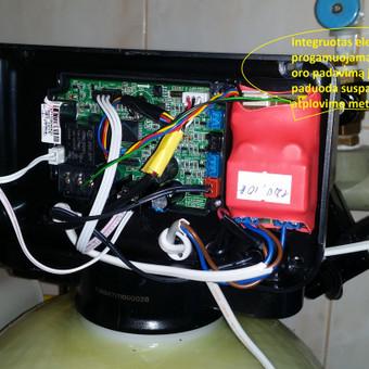 Nugeležinimo filtro į valdymo vožtuvą integruotas programuojamas pagal poreikius kompresoriaus valdiklis. Eketyvus oro padavimas į oksidacinę talpą ir labai pagerina filtro atplovimo procesą.