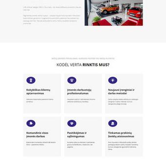 Autoserviso, automobiliais prekiaujančios įmonės internetinė svetainė ertona.lt