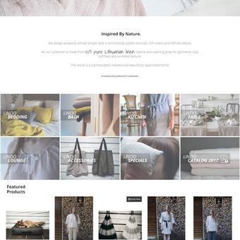 Įmonės, prekiaujančios lininiais gaminiais, internetinė parduotuvė - linoo.lt. Turinio valdymo sistema - Magento2.