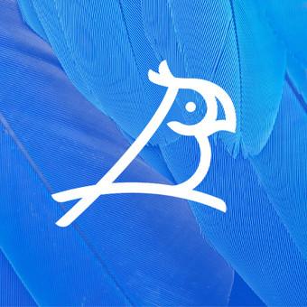 Bluebird   |   B + Bird + Parrot   |   For fun  |   Logotipų kūrimas - www.glogo.eu - logo creation.