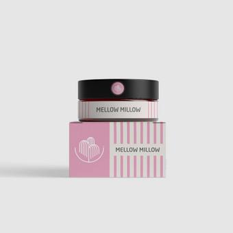 Mellow Willow kosmetikos gaminių pakuotė ir logotipo dizainas