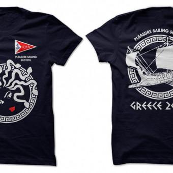 Marškinėliai, užsakovas Kreiserinio buriavimo mokykla