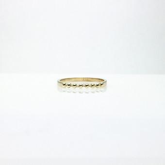 geltono aukso žiedas perdirbtas iš kliento aukso laužo